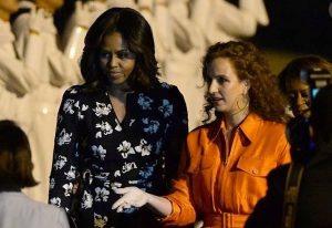 مشيل اوباما والاميرة للالة سلمى